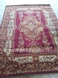 Alfombra de lana (tonos rojos)