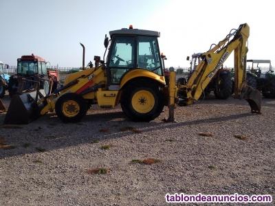 Retro excavadora mixta new holland lb 110 b - 4pt.