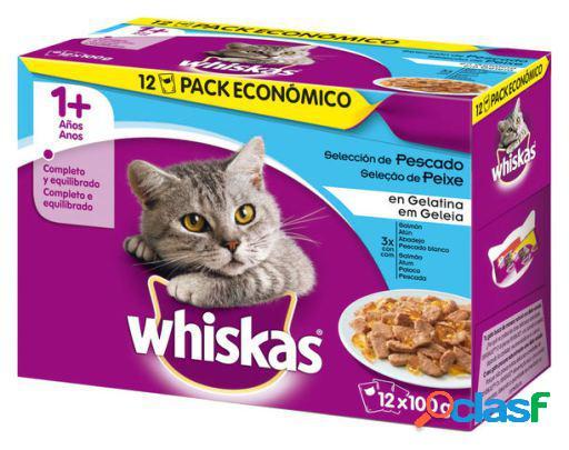Whiskas Pack Alimento Húmedo para Gatos con Sabor a Pescado