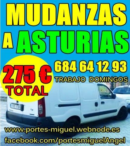 MUDANZAS A ASTURIAS POR 275 EUROS