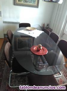 Mesa y sillas comedor años 60