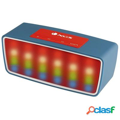 Ngs Altavoz Bt 3W Rollerglowblue Radio+Usb+Sd Azul, original