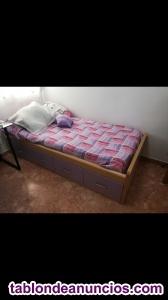 Se vende cama y estanteria