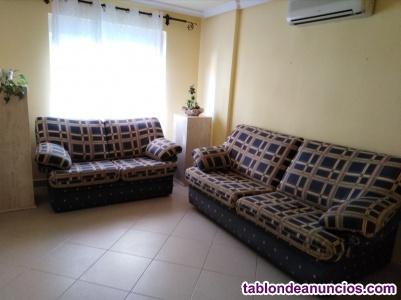 Sofá cama y sofá dos plazas