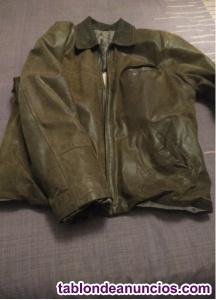 Vendo chaqueta cuero genuino maron