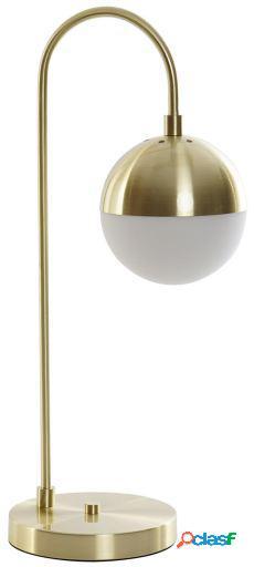 Wellindal Lámpara Sobremesa Metal Cristal