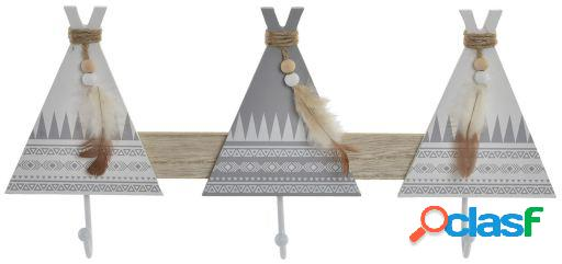 Wellindal Perchero Madera Tipi
