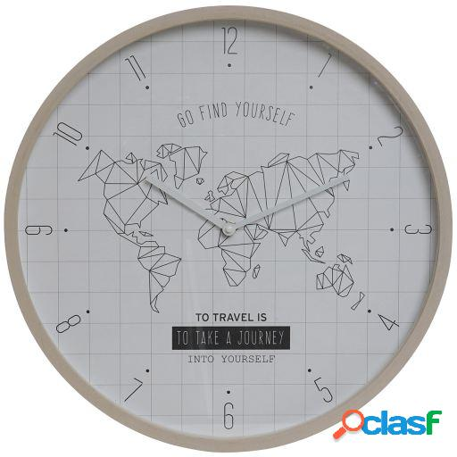Wellindal Reloj Pared Mapamundi