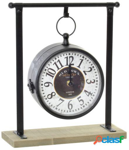 Wellindal Reloj Sobremesa Metal Negro