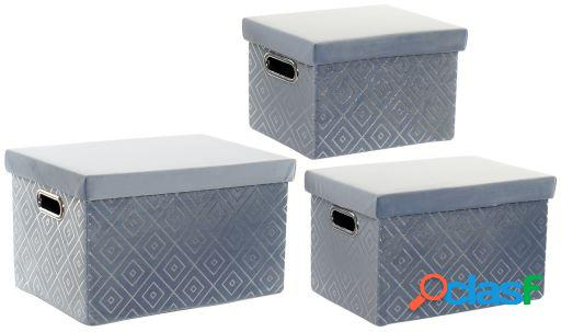 Wellindal Set 3 cajas Rombos