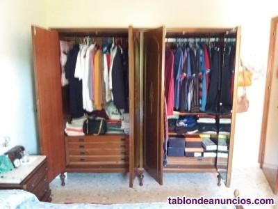 Armario madera 4 puertas