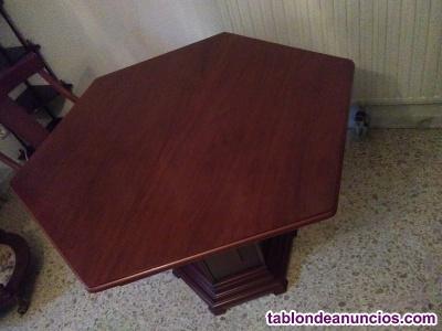 Mesa madera maciza + 4 sillas