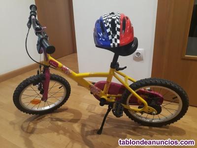 Bicicleta niña 16 pulgadas con o sin ruedines