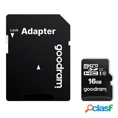 Goodram M1Aa Micro Sd C10 16Gb c/adap, original de la marca
