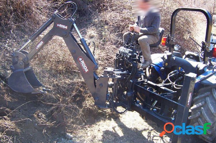 Retroexcavadora extra móvil roda para tractores stándard