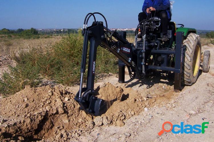 Retroexcavadora mini móvil roda para tractores fruteros