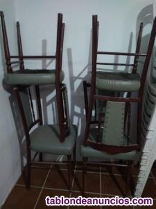 4 sillas salón de madera en perfecto estado.