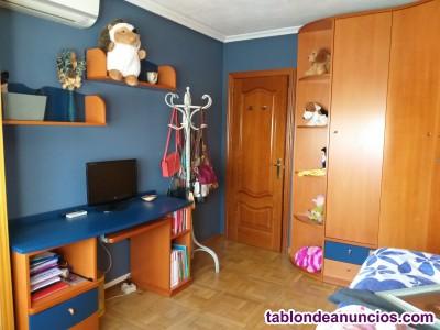 Muebles dormitorio juvenil en madera de cerezo