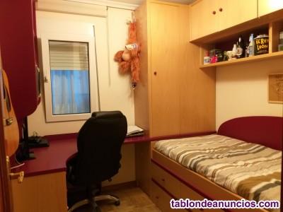 Muebles dormitorio juvenil en madera de haya