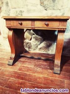 Mesa pupitre aparador de madera