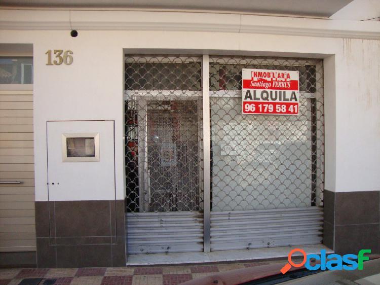 ALQUILER LOCAL COMERCIAL EN ALMUSSAFES CENTRICO SALIDA A DOS