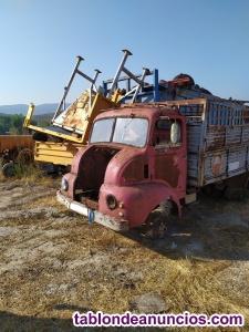 Cabeza de camion antiguo para decoracion