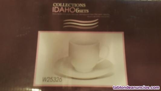 Tazas de café de porcelana.