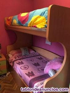 Mueble litera cama nido
