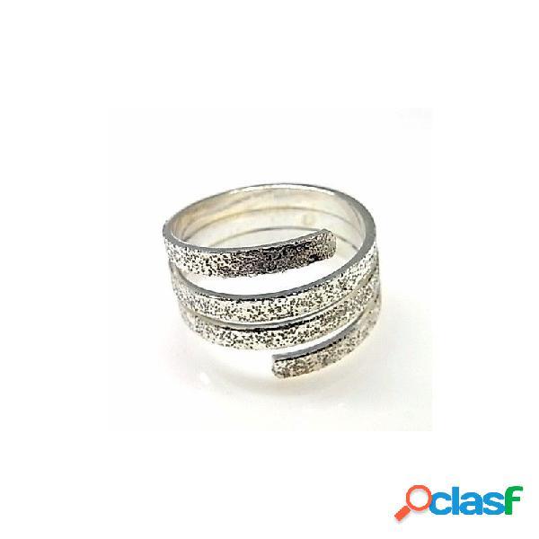Sortija diamantada de plata de ley