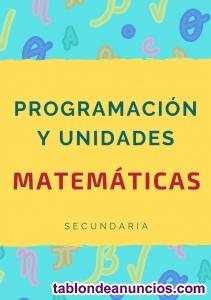 Vendo programación + unidades didácticas de matemáticas