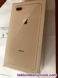 Móvil iphone 8 plus color dorado de 256 y 6 gb encaja con
