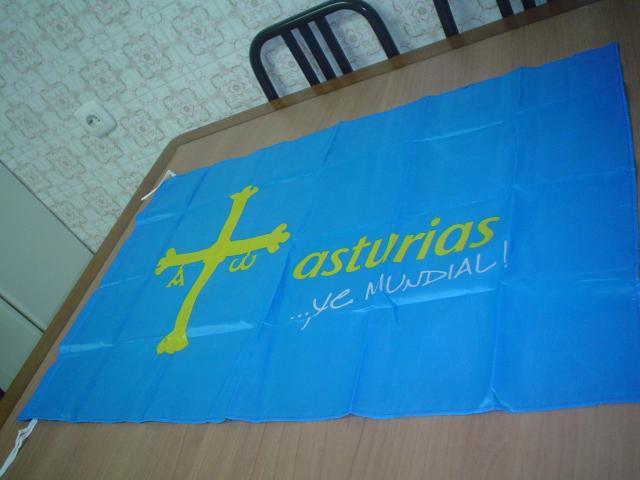 Bandera de Asturias … ye mundial ¡ de 88 cms. de larga y
