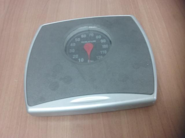 Bascula de baño marca Taurus de 0 a 120 Kgs. color gris,.