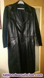 Abrigo largo de piel autentica talla .