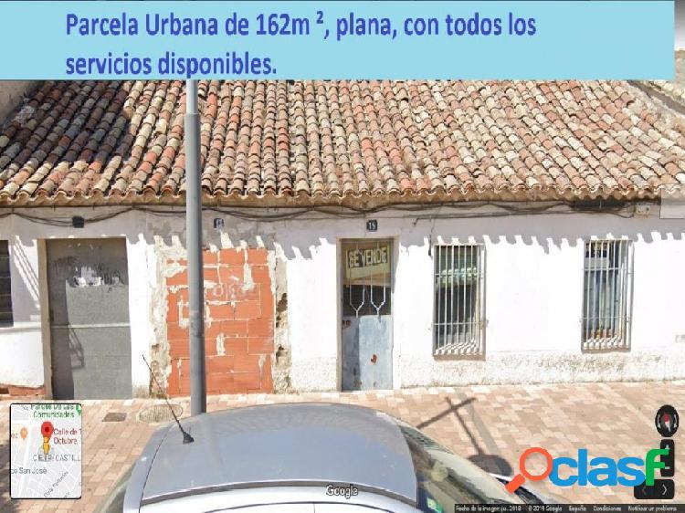 Se vende parcela urbana de 162 mo en el centro de Torrejon