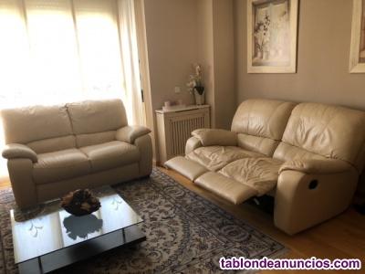 Conjunto de 2 sofas de la marca chateau d'ax piel en color