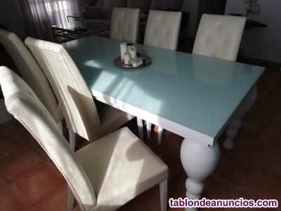 Mesa salón + 6 sillas