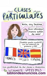 Clases particulares de inglés y apoyo de materias en