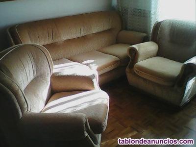 Sofa de 3 plazas y 2 sillones de 1, vintange,