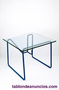 Vendo mesa de hierro y cristal de diseño