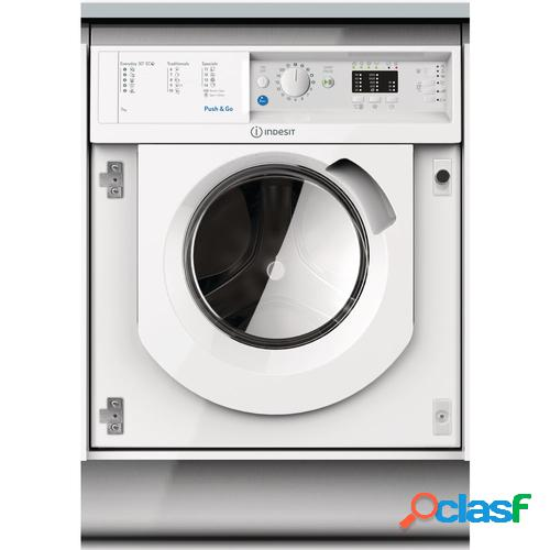 Indesit Lavadora Integrable BIWMIL71252EU Blanco