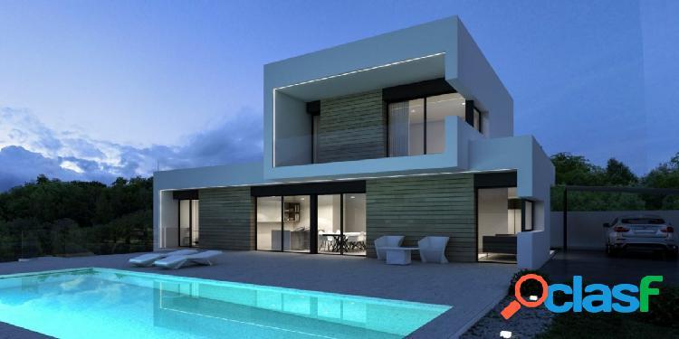 Villa de diseño moderno construida en una gran parcela a