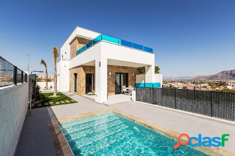 Villa con piscina privada en Bigastro