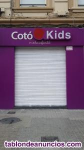 Se traspasa tienda de moda infantil en benimaclet.