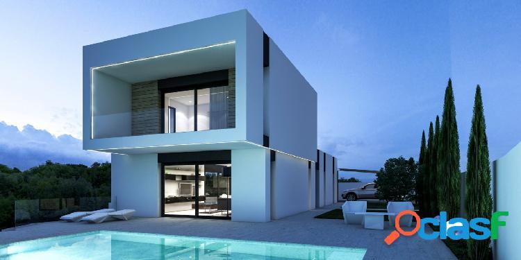 Villa de estilo moderno en costa de Benissa con piscina