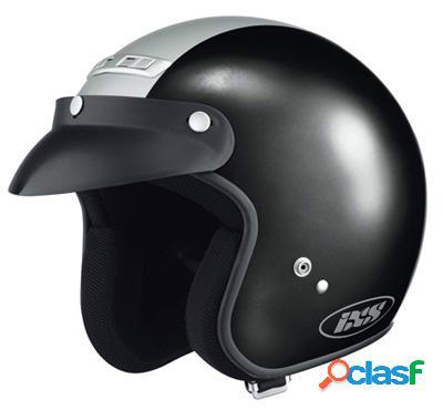 Casco Jet IXS HX 105 de para moto Color Negro y Plata