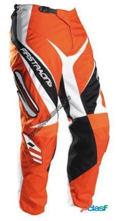 Pantalones FIRSTRACING de moto modelo DVX naranjas