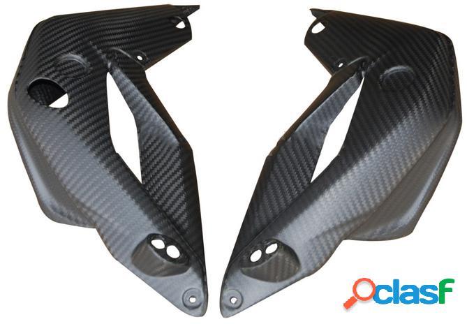 Protección para el radiador de fibra de carbono para motos