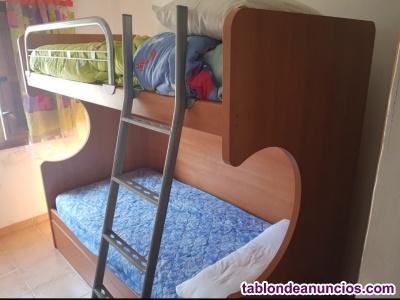 Litera 3 camas de madera