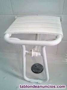 Asiento mural plegable para ducha